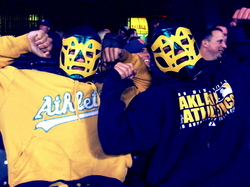 Thumbnail image for Oakland A's wrestlers