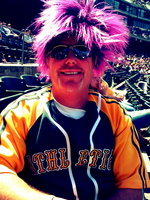 Thumbnail image for Fan in purple wig