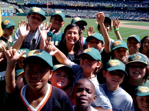 Kara and Little Leaguers