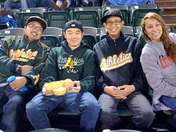 Friends at the game