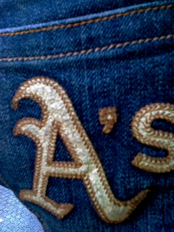 A's jeans pocket detail