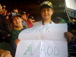 """Stick it A-Rod"" sign"
