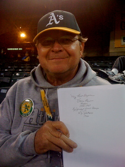 Richard with Vern Law's autograph