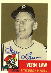 Vern Law's baseball card