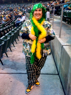 Karen, the A's super fan #2