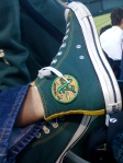 Love the cutomized converse, but the hand-sewn A's patch is even more special!