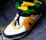 The only time I'll endorse green/yellow cammo: if it matches the shoes!