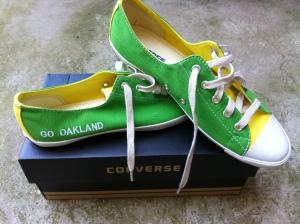 Kara's new A's shoes