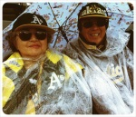 A's fans braving the cold and the wet