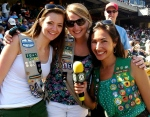 Scout Day with the A's (and yes, that is my REAL Girl Scout vest!)