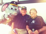 Florence and Dale celebrate their 45th wedding anniversary with the A's